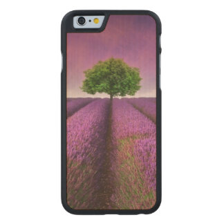 Lavender Field Landscape Summer Sunset Carved Maple iPhone 6 Case