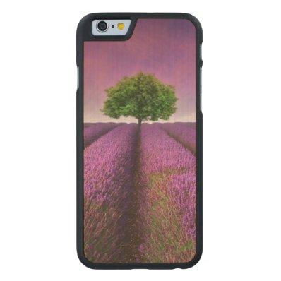 Lavender Field Landscape Summer Sunset Carved® Maple iPhone 6 Case