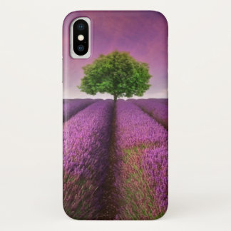 Lavender Field Landscape Summer Sunset iPhone X Case