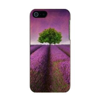Lavender Field Landscape Summer Sunset Metallic Phone Case For iPhone SE/5/5s