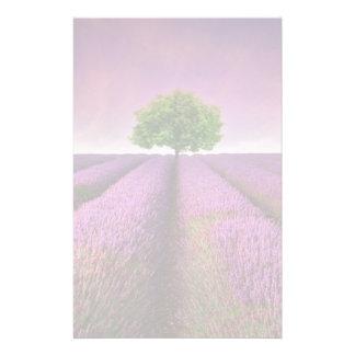Lavender Field Landscape Summer Sunset Stationery