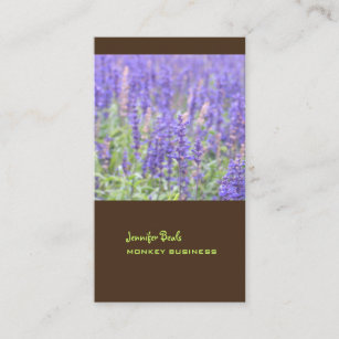 Chocolate business cards zazzle lavender field photograph chocolate business card colourmoves
