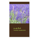Lavender field photograph + chocolate business cards