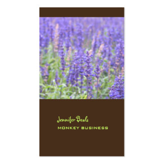 Lavender field photograph + chocolate Double-Sided standard business cards (Pack of 100)