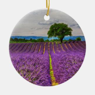 Lavender Field scenic, France Ceramic Ornament
