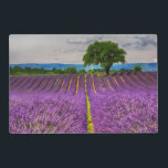 """Lavender Field scenic, France Placemat<br><div class=""""desc"""">France,  Provence,  Lone Tree in Lavender Field 