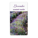 Lavender Field Scented Candlecustomized Label at Zazzle