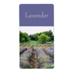 lavender field scented oil customized label