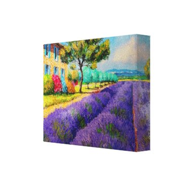 frankiesdaughter Lavender Fields n Provence Watercolor Canvas Print