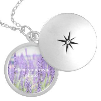 Lavender fields photography, various gifts round locket necklace