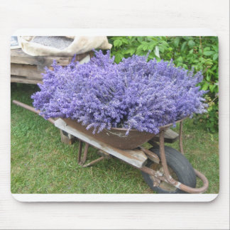 Lavender Filled Wheelbarrow Mouse Pad