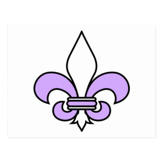 Lavender fleur de lis postcard