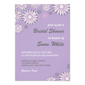 "Lavender Floral Bridal Shower Wedding Invitation 5"" X 7"" Invitation Card"