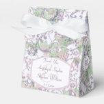 Lavender Floral Damask Wedding Favor Box