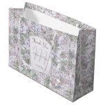 Lavender Floral Damask Wedding Thank You Large Gift Bag
