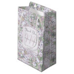 Lavender Floral Damask Wedding Thank You Small Gift Bag