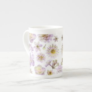 Lavender Floral Deco Bone China specialtymug