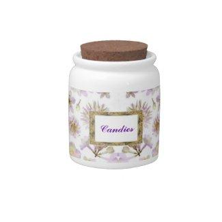 Lavender floral Deco Candy Jar candyjar