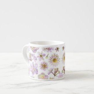 Lavender Floral Deco Espresso Mug specialtymug