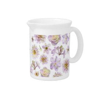 Lavender Floral Deco Pitcher