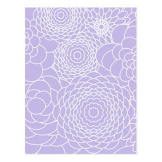Lavender Floral Design Modern Abstract Flowers Postcard