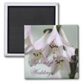 Lavender Floral 2 Inch Square Magnet