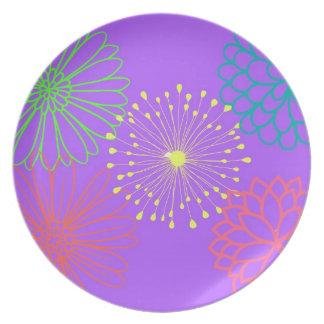 Lavender Floral Party Plates