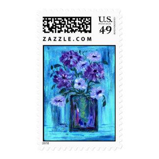 Lavender Floral Stamp