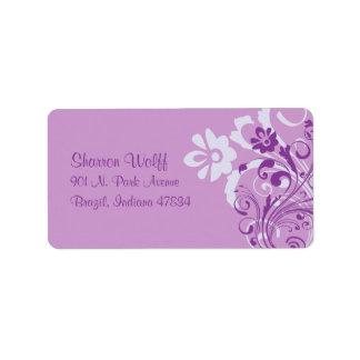 Lavender Floral Return Address Labels