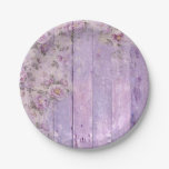 Lavender Floral Shabby Chic Paper Plate