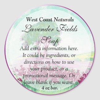 Lavender Floral Soap and Bath Products Label
