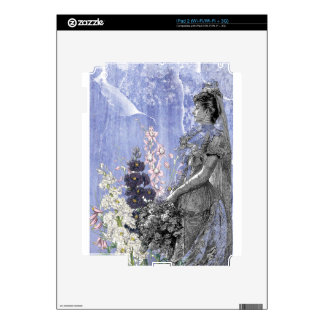 Lavender Floral Steampunk Victorian Bride Wedding Skins For iPad 2