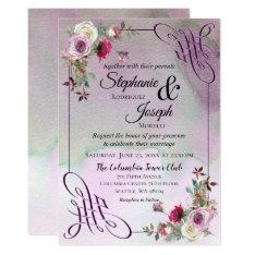 Lavender Floral Watercolor Wedding Invitation at Zazzle