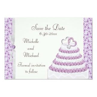 Lavender Florentine Save the Date 3.5x5 Paper Invitation Card