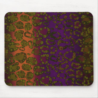Lavender Florescent Pink Cheetah Print Mouse Pads