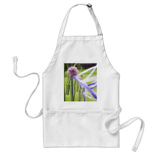 Lavender flower ball with streaming ribbons adult apron