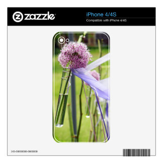 Lavender flower ball with streaming ribbons decals for iPhone 4S