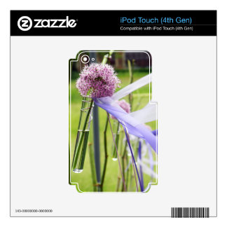 Lavender flower ball with streaming ribbons decals for iPod touch 4G