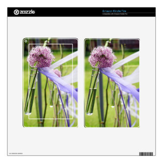 Lavender flower ball with streaming ribbons kindle fire decal