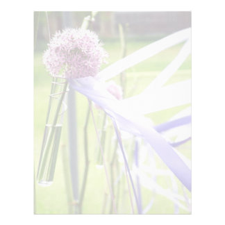 Lavender flower ball with streaming ribbons letterhead