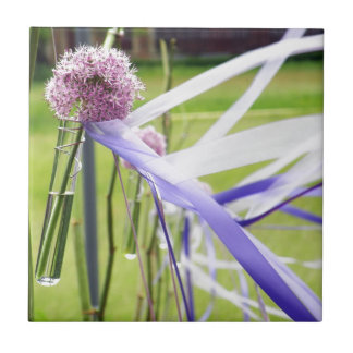 Lavender flower ball with streaming ribbons tile