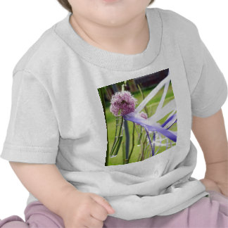 Lavender flower ball with streaming ribbons tshirt