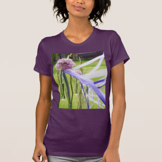 Lavender flower ball with streaming ribbons t-shirt