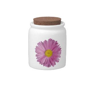Lavender Flower Candy Jar