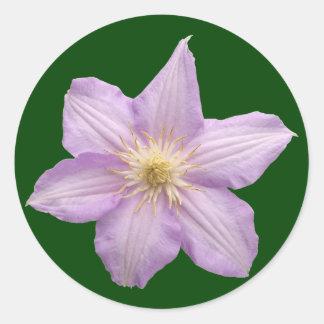 Lavender Flower Classic Round Sticker