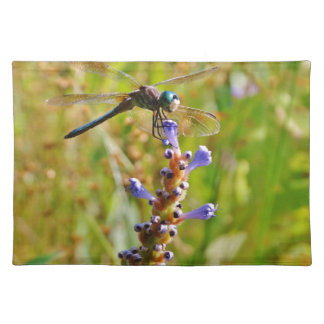 Lavender flower dragonfly place mats