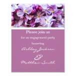 Lavender Flower Engagement Party Invites