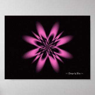 Lavender Flower Fractal Posters