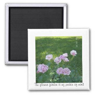 lavender flower garden 2 inch square magnet