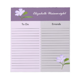 Lavender Flower Notepad
